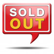 Sold out icon — Stock Photo #35987369