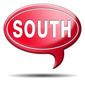 South icon — Zdjęcie stockowe