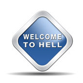 Welcome to hell — Stock Photo
