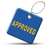 Approved — Stockfoto