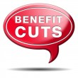 Benefit cuts — Foto Stock