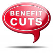 Benefit cuts — Stock Photo