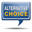 Stock Photo: Alternative choice
