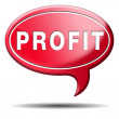 Profit icon — Stock Photo