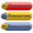 Resources button — Stock Photo