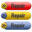 Repair button — Stock Photo