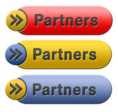 Partners button — 图库照片