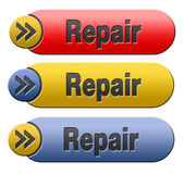 Repair button — Stock Photo