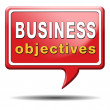 Stock Photo: Business objectives