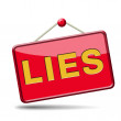 Lies icon — Stock Photo