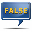 Foto Stock: False answer