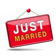 Just married — Foto Stock
