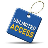 Unlimited access — Stock Photo