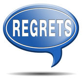 Regrets icon — Stock Photo