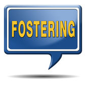 Fostering child care and adoptation — Stock Photo