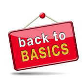 Back to basics — Stock Photo