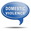 Domestic violence icon — Stock Photo