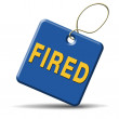 Fired icon — Stock Photo