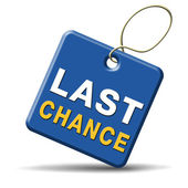 Last chance — Stock Photo