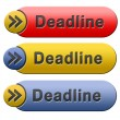 Deadline button — Stock Photo