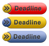 Deadline button — Foto de Stock