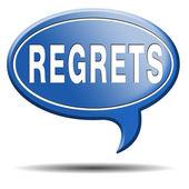 Regrets icon — Stock Photo