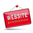 Stock Photo: Website promotion