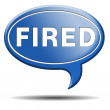 Fired icon — Stock Photo #37611707