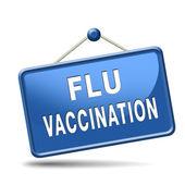 Grippeschutzimpfung — Stockfoto