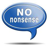 No nonsense — Стоковое фото