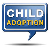 Child adoption — Stock Photo
