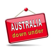 Australia icon — Stock Photo
