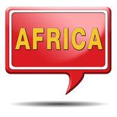Africa icon — Stock Photo