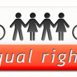 Equal rigts button — Stock Photo #38302673