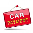 Stock Photo: Car payment