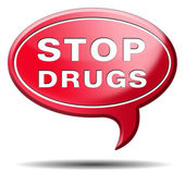 Stop drug abuse — Stock Photo