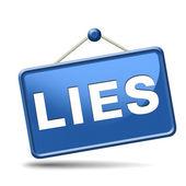 Lies icon — Stock Photo