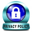 Stock Photo: Privacy policy