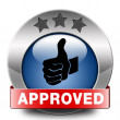 Stock Photo: Approved icon