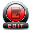 Stock Photo: Edit icon