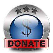 Donare icona — Foto Stock