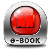 Ebook icon — Stock Photo