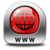 Www мир широкий значок Интернета — Стоковое фото