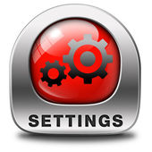Settings button — Stock Photo