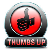 Thumbs up button — Stock Photo