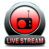 Live stream radio — Stock Photo