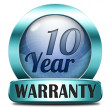 Ten year warranty — Stock Photo #40561145