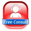 Free consult button — Stock fotografie #41684315