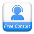 Free consult button — Stock Photo #41684335