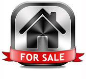 House for sale sign — Stock Photo